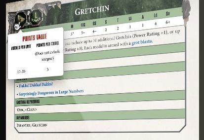 hoja de datos Gretchin