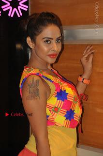 Telugu Actress Model Sri Reddy Latest Stills in Yellow Dress  0006.JPG