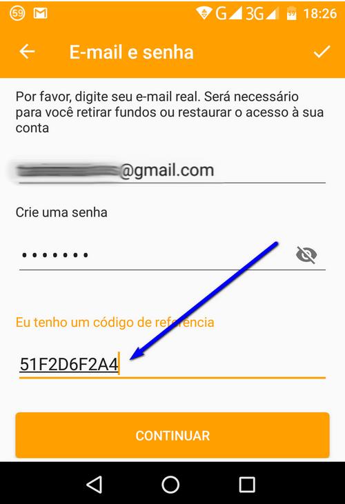 MONEY sms mensagem dinheiro registar referral referido code