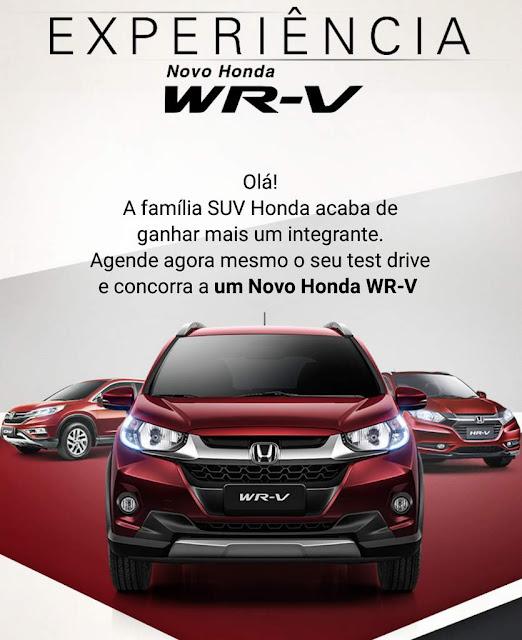 Honda sorteia seis WR-V para quem fizer test-drive