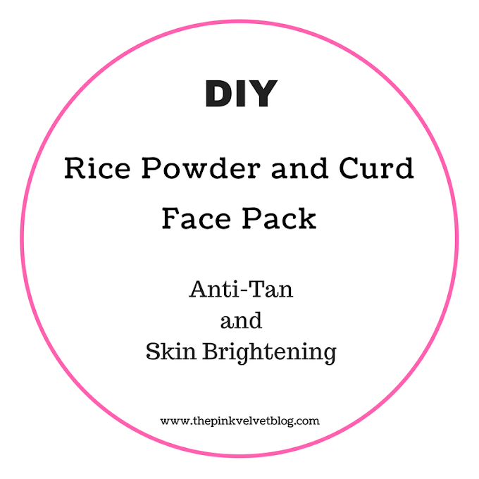 DIY - Rice Powder and Curd Face Pack | Anti-Tan and Skin Brightening