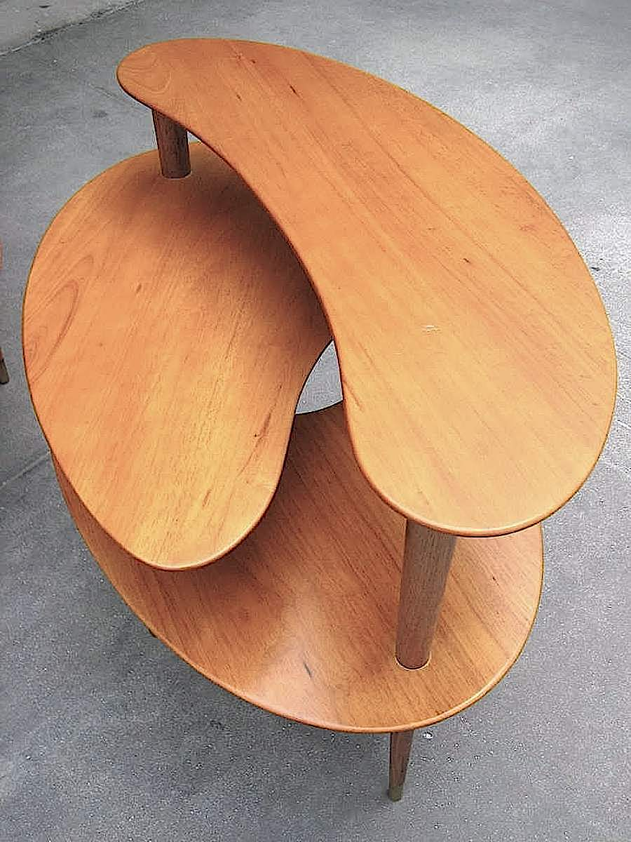 a John Keal 1950s table in a color photograpg