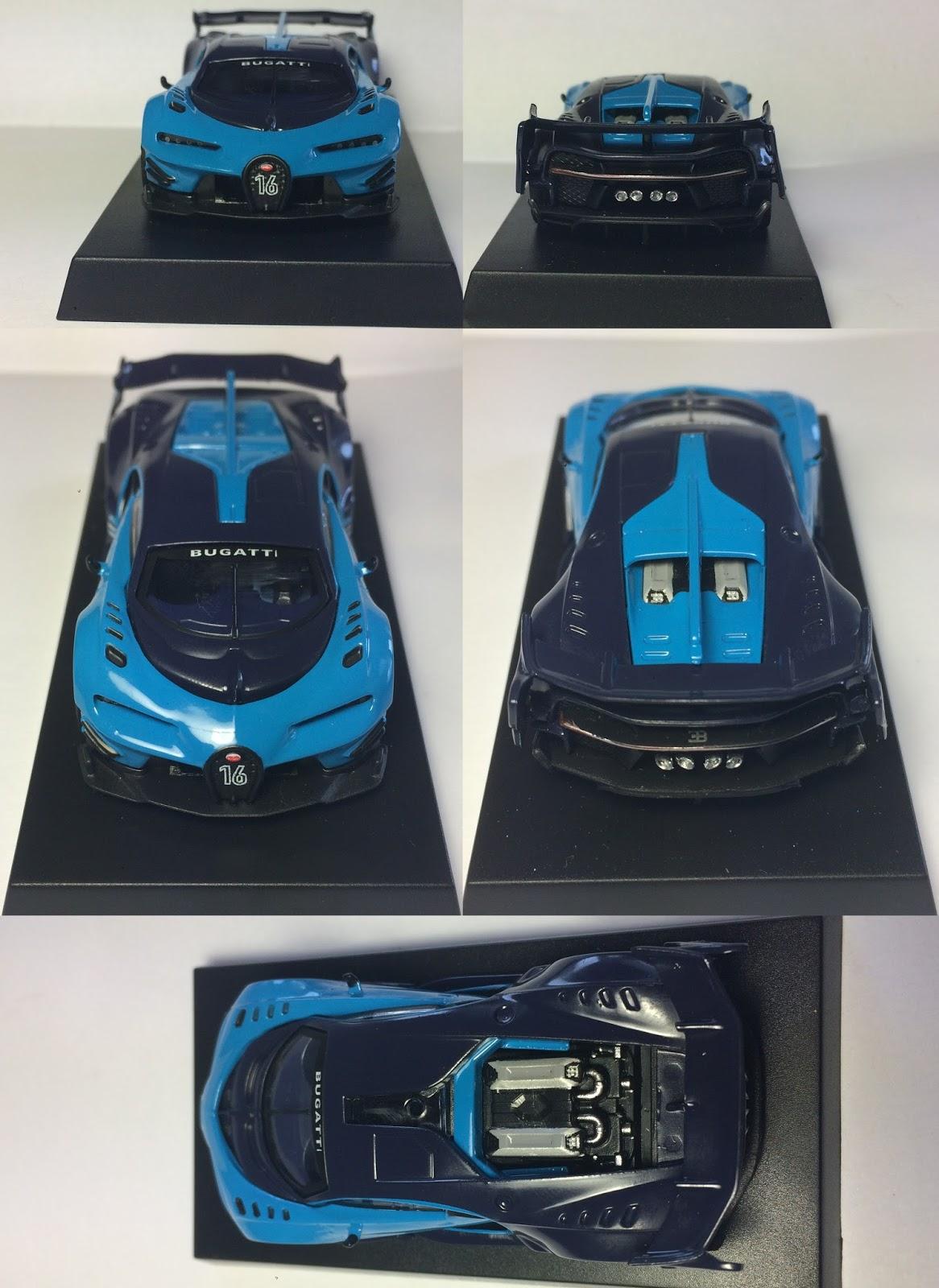 Alberto Miniaturas 1/64: 7-Eleven Bugatti Vision GT 1/64 on lightning paint job corvette, lightning man, lightning ford,
