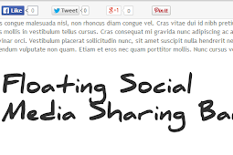 Add floating social media sharing buttons below Blogger post titles