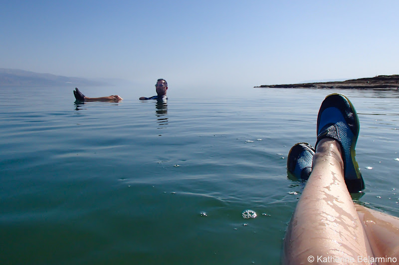 Water Shoes Floating in the Dead Sea and Tips Israel