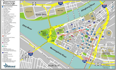 Downtown Pittsburgh Map