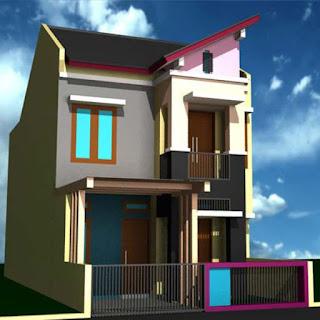 desain rumah minimalis 2 lantai dengan pagar