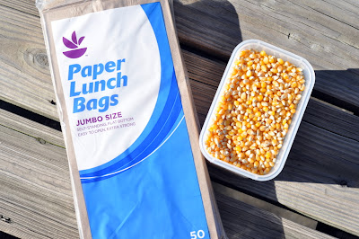 Paper Lunch Bags and Popcorn - Photo by Taste As You Go