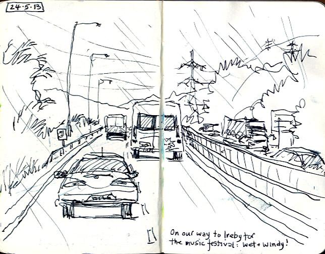 Car Window Speed Sketching