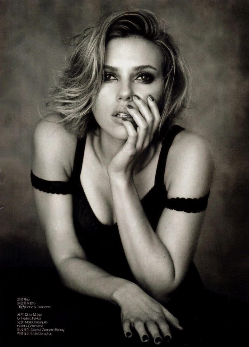Scarlett Johanssen by Peter Lindbergh for Vogue China (April 2011) | Ses Rêveries