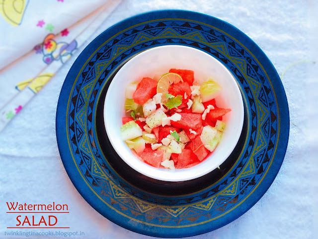 watermelon salad, watermelon and feta salad, recipe, watermelon cucumber feta salad recipe, cold salad, summer salad, foodporn, food food, healthy eating, clean eating, healthy recipe