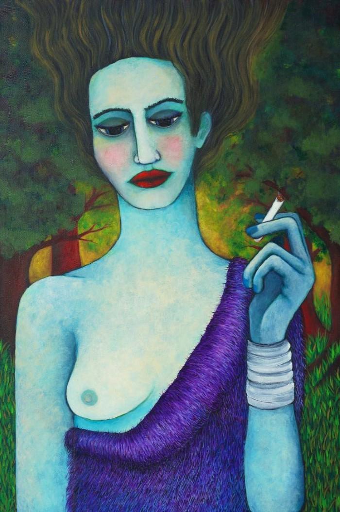 Её картины-мечты - её личный мир.