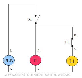 Contoh Penggunaan atau Wiring Diagram Timer OMRON