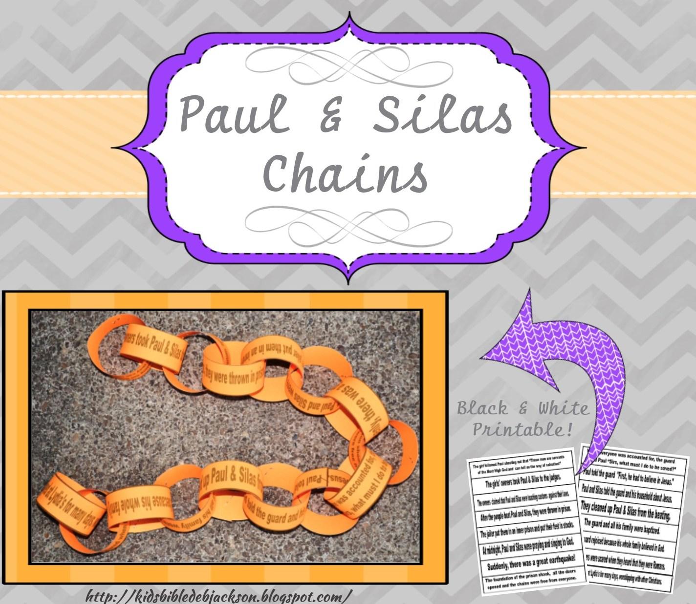 Bible Fun For Kids Paul Amp Silas In Prison