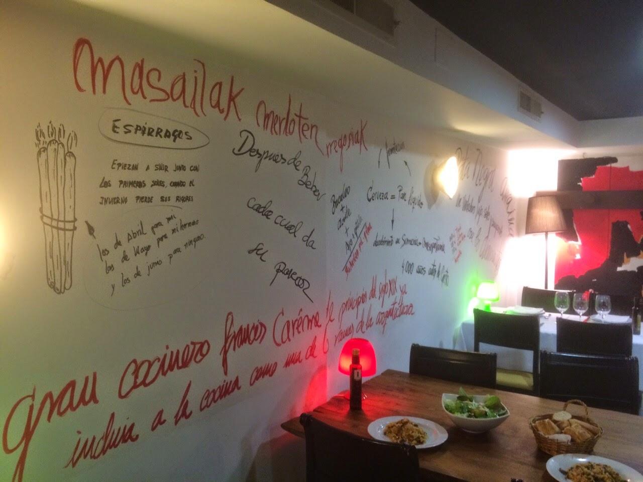 Comedor del restaurante Sukalde en Bilbao