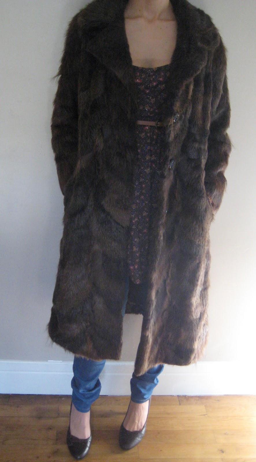cloz sweet cloz manteau fourrure vintage. Black Bedroom Furniture Sets. Home Design Ideas