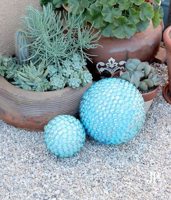 DIY Garden Gazing Ball