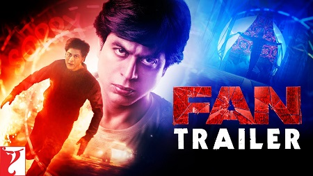 FAN 2016 Official Movie Trailer Starring Shah Rukh Khan in double role as Gaurav and Aryan Khanna