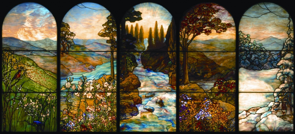Bensozia Louis Comfort Tiffany Stained Glass Windows
