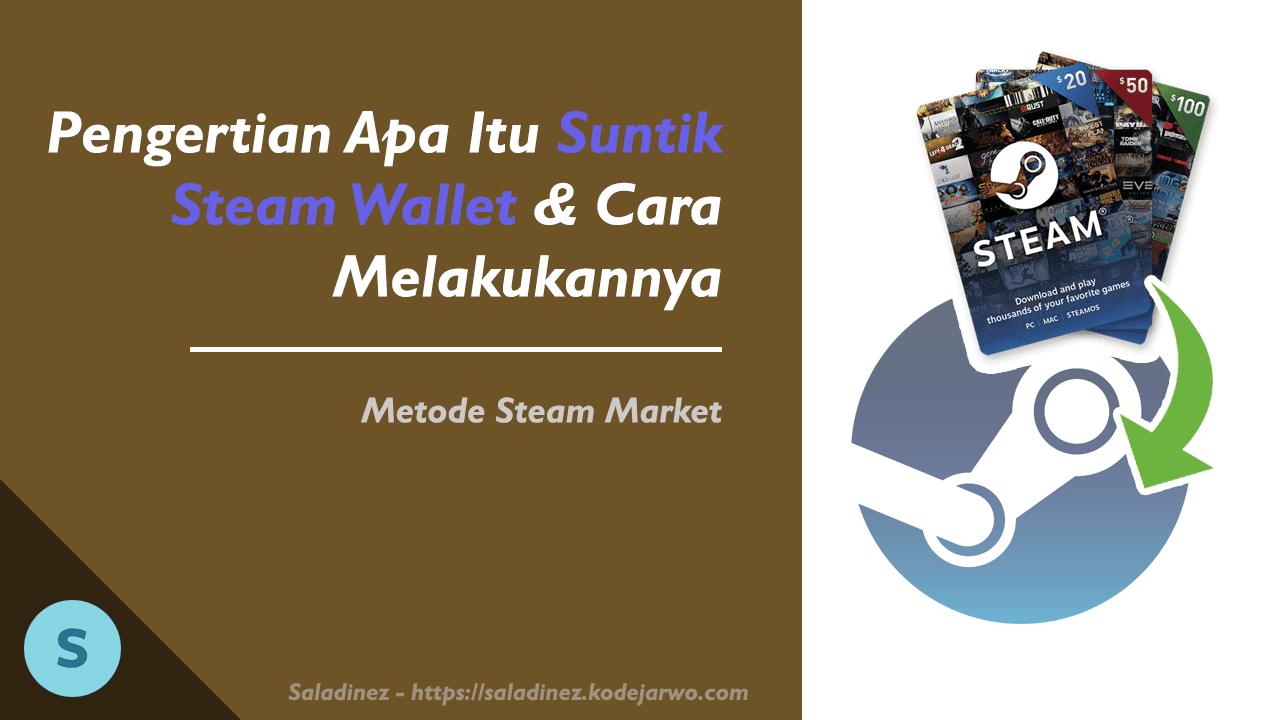 Pengertian Apa Itu Suntik Steam Wallet & Cara Melakukannya (Metode Steam Market)