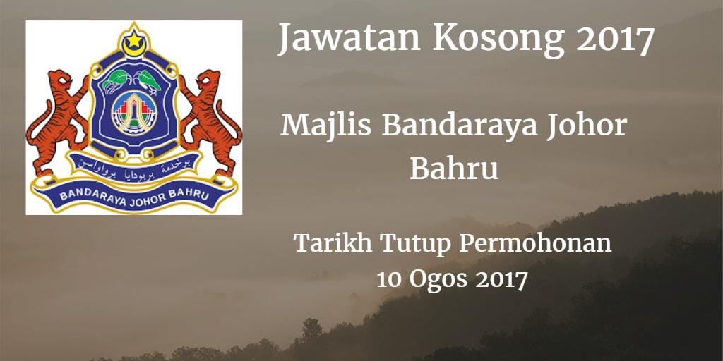 Jawatan Kosong MBJB 10 Ogos 2017