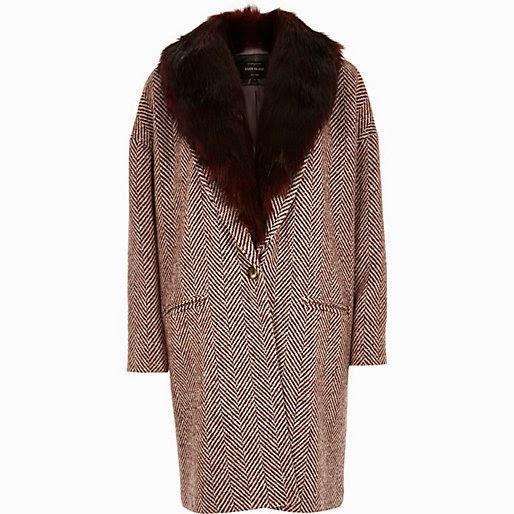 burgundy herringbone coat