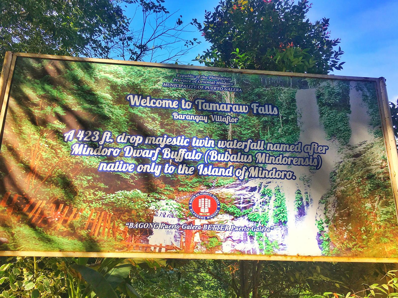TAMARAO FALLS ENTRANCE FEE