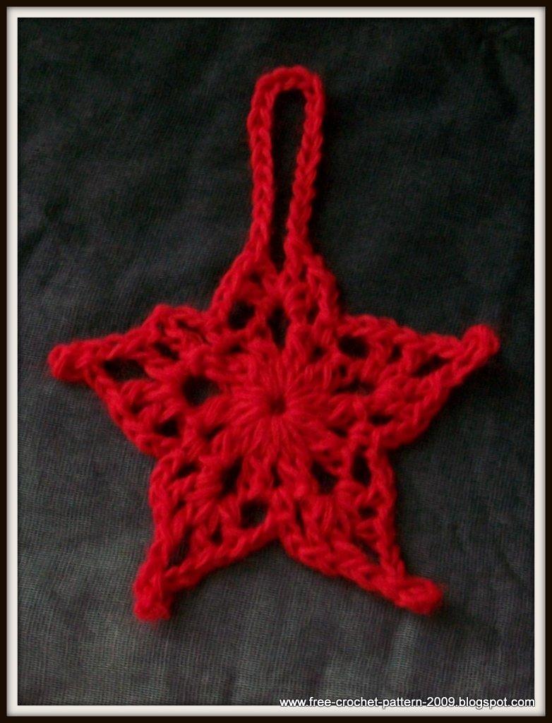Girlies Crochet Girlies 5 Point Star Christmas Ornament