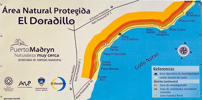 Mapa del Area Natural Protegida El Doradillo