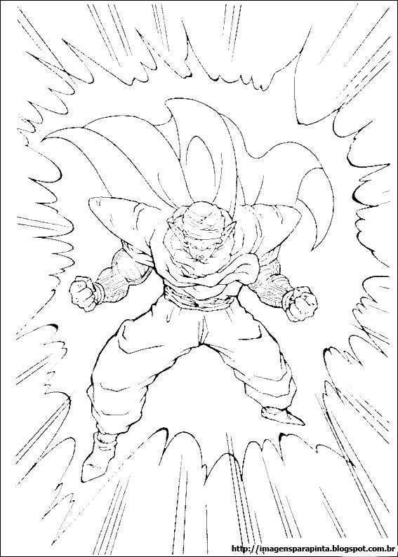Dragon Ball Z Piccolo E Kami Sama Desenhos Preto E Branco