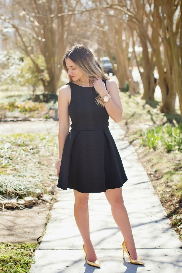 71cb852f73 Bedazzles After Dark  Outfit Post  Little Black Skater Dress