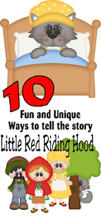 Tell the story of The Little Red Riding Hood in a unique way.  Your kids will love to get involved with the story and learn with these ten printable, playful, and fun ways to share this fairy tale story.