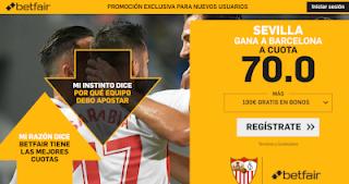 betfair supercuota Sevilla gana al Barcelona 20 octubre