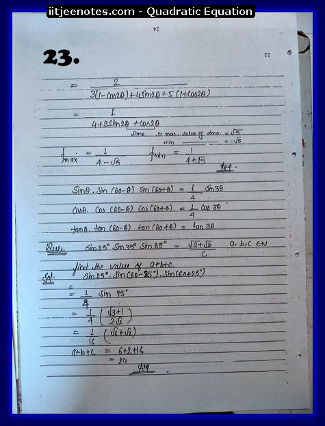 maths class 11 notes quadratic equation2
