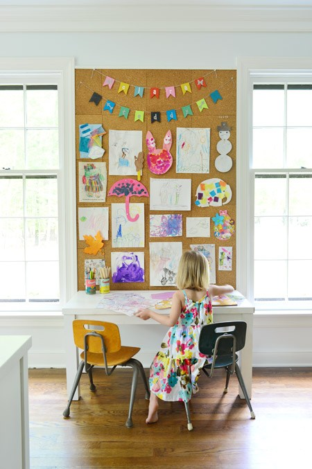 cork board wall inspiration