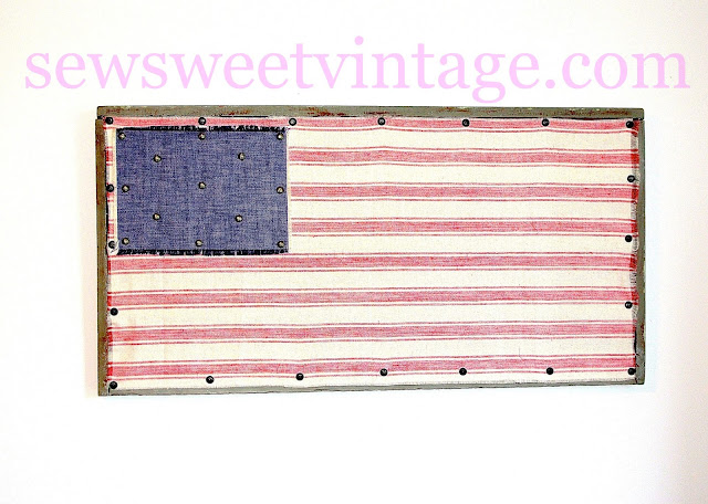 how-to make an American flag with scrap fabrics