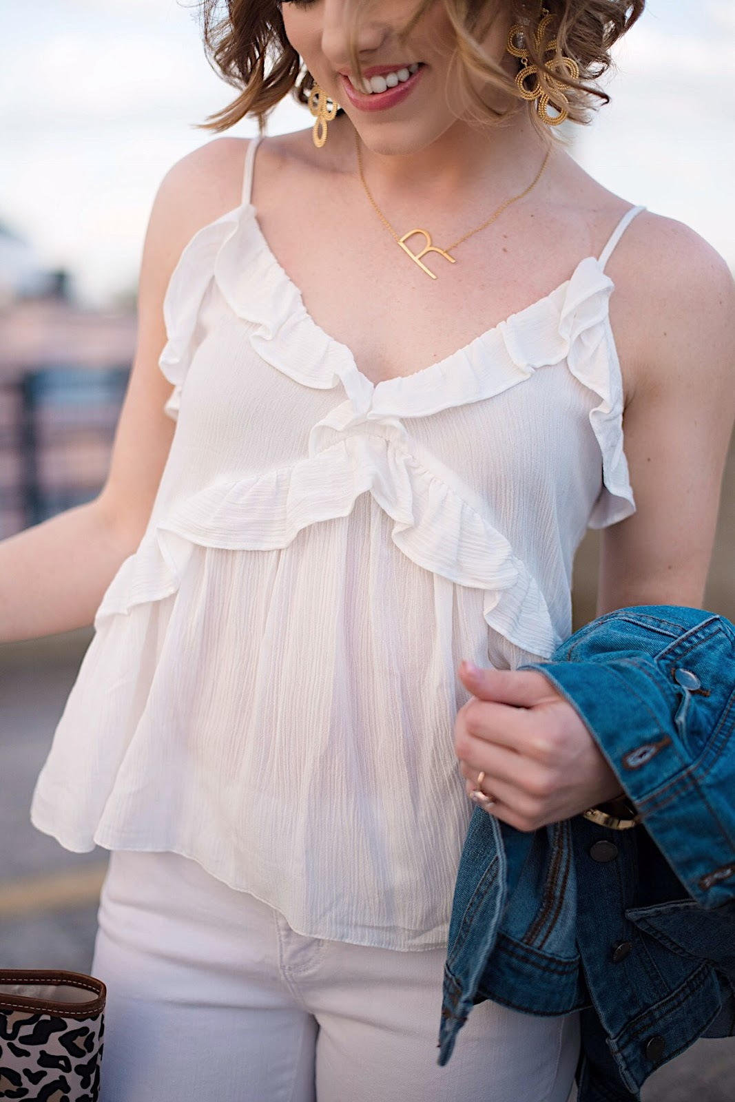 $32 Ruffle Front Cami - Something Delightful Blog