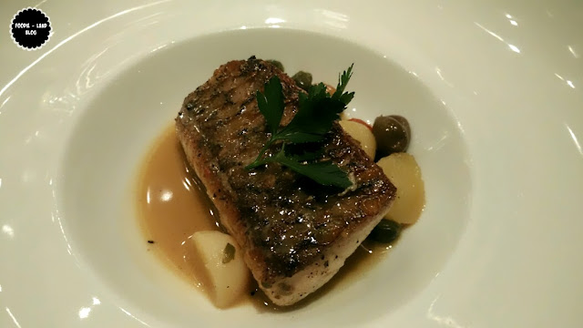 Marinated Seabass toasted in Cherry tomatoes, olives, capers & potatoes @ The North Italian Food Festival @ Alto Vino | Marriott Whitefield | Bangalore