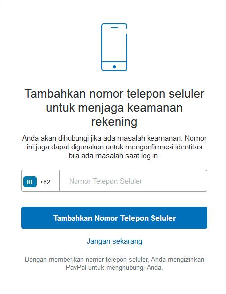 meminta telepon seluler