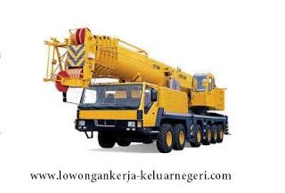 Lowongan Kerja Operator Mobil Crane di Brunei darussalam-Info hub Ali Syarief Hp. 081320432002