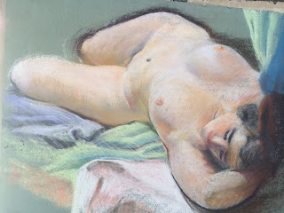 Quirk Pennsylvania Artist, Nude figure study Quirk, Pastel Nude