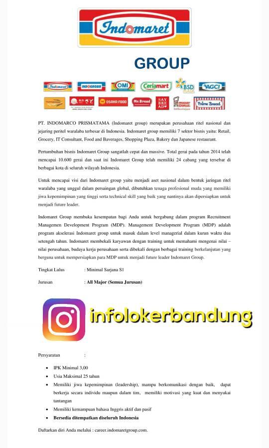 Lowongan Kerja MDP PT. Indomarco Prismatama Mei 2017