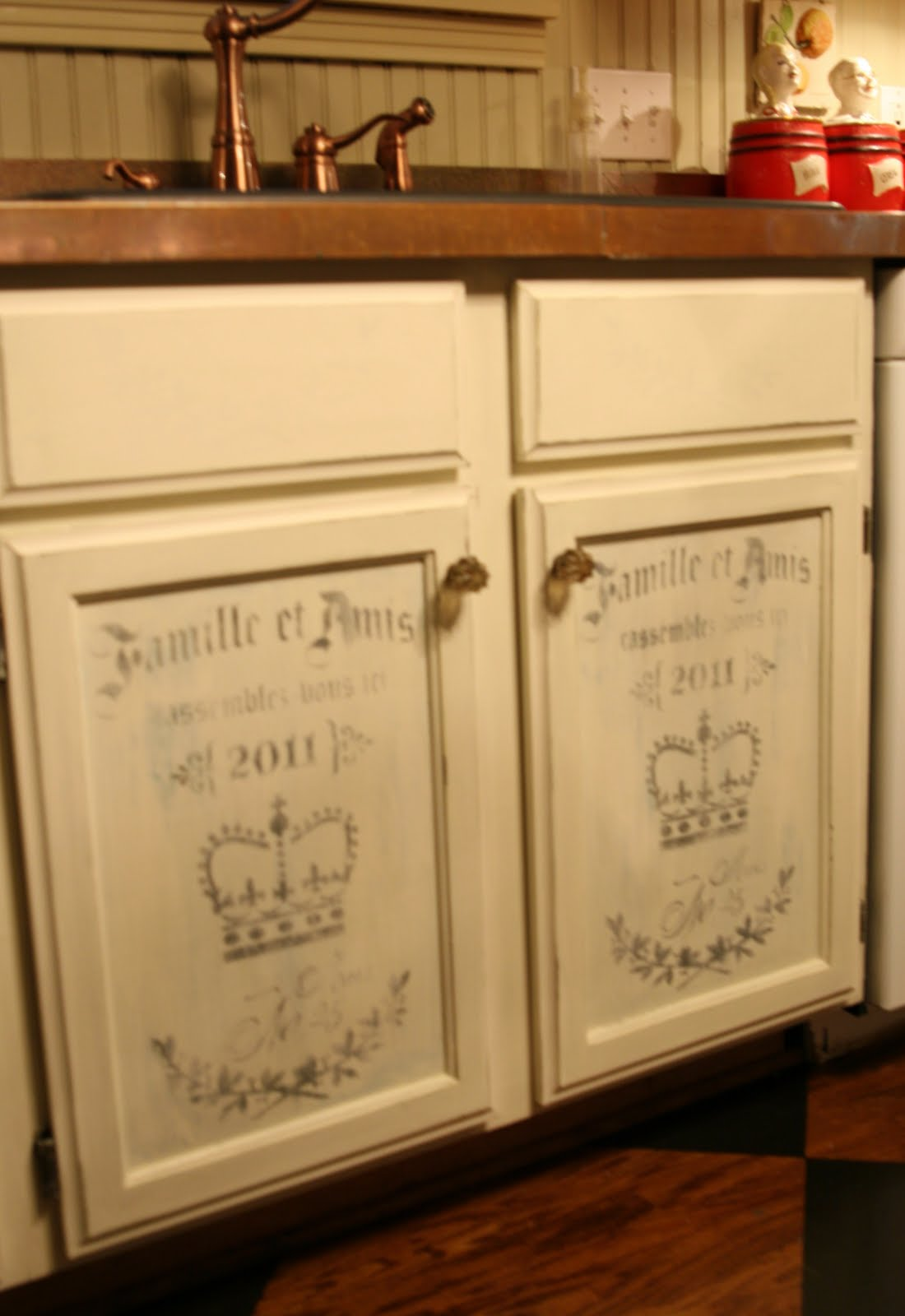Chalk paint kitchen cabinets for The kitchen cupboard