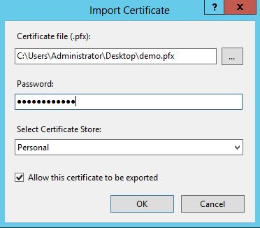 Import certificate 1