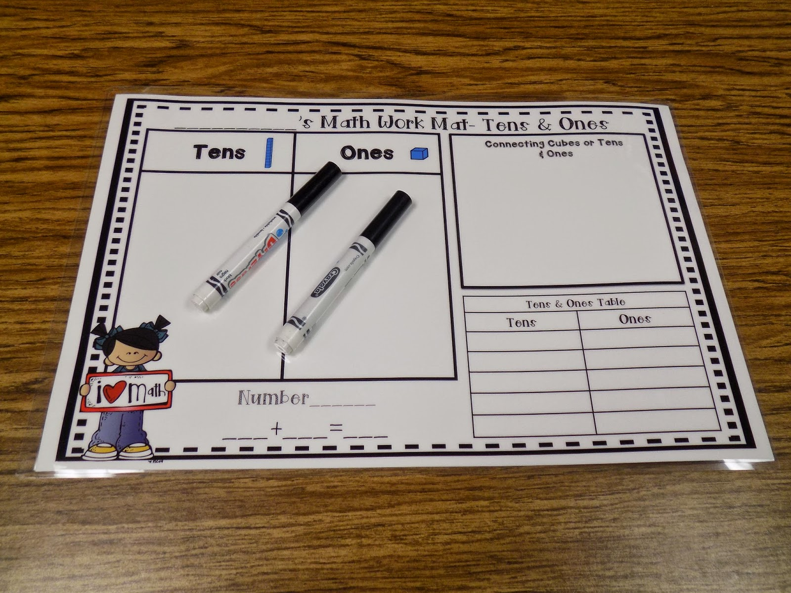 Tales From The First Grade Learning Mats Tens And Ones