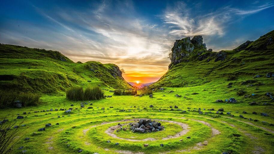 Skye, United Kingdom, Sunrise, Scenery, 8K, #4.2336