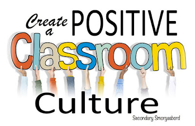 I create a positive classroom culture by building relationships.