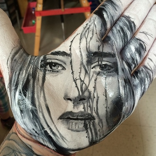 19-Russell-Powell-Hand-Body-Painting-Transferred-to-Paper-www-designstack-co