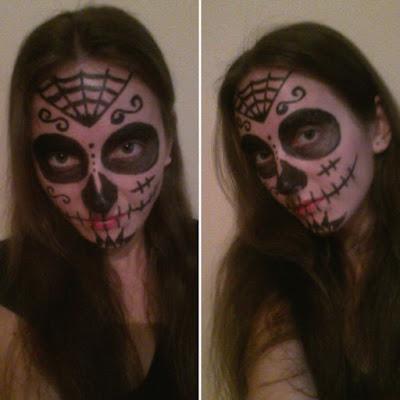 Makijaż na Halloween Santa Muerte - pomysł na prosty i efektowny straszny make-up
