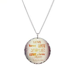 LOVE X 7 Necklace Circle Charm
